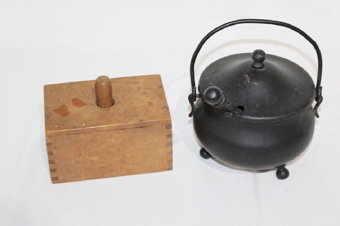 Primitve Butter Press & Iron pot