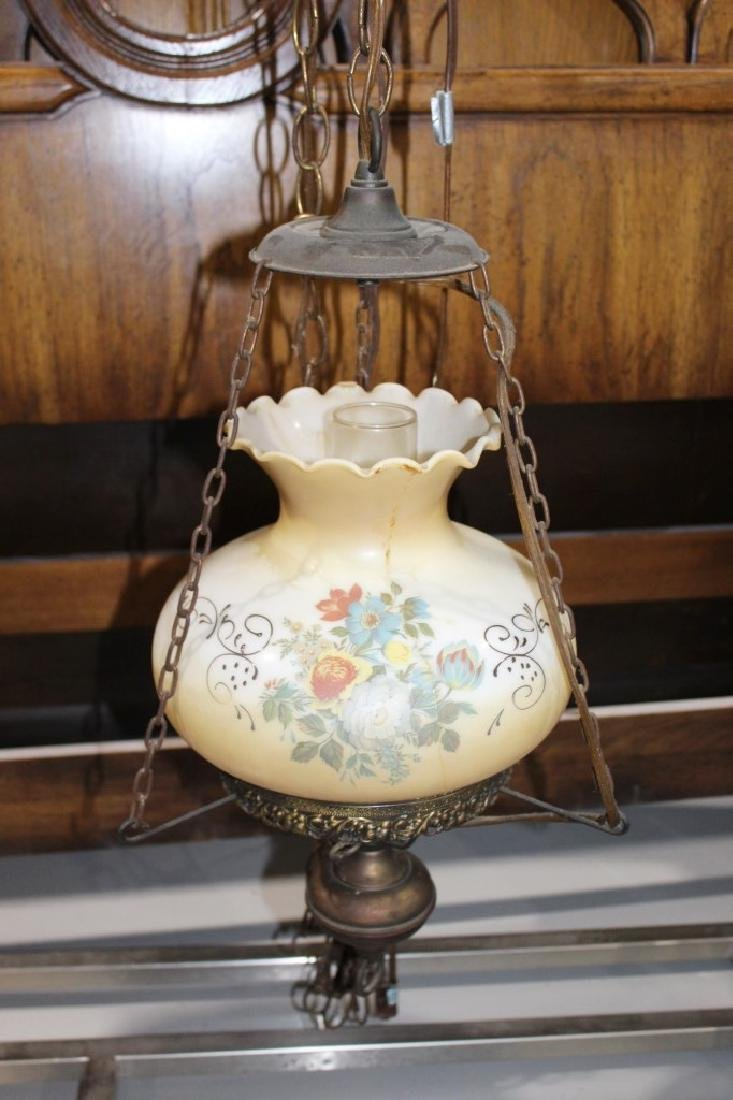 Hanging Oil Lamp Style Floral Chandelier
