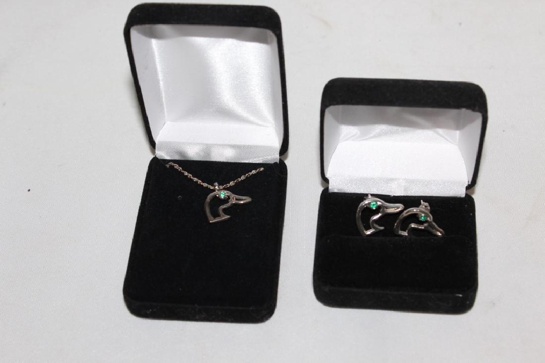 Ducks Unlimited Necklace & Earrings
