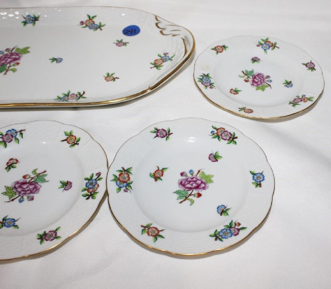 Large Tray and 6 Small Saucers - Herend China - 2