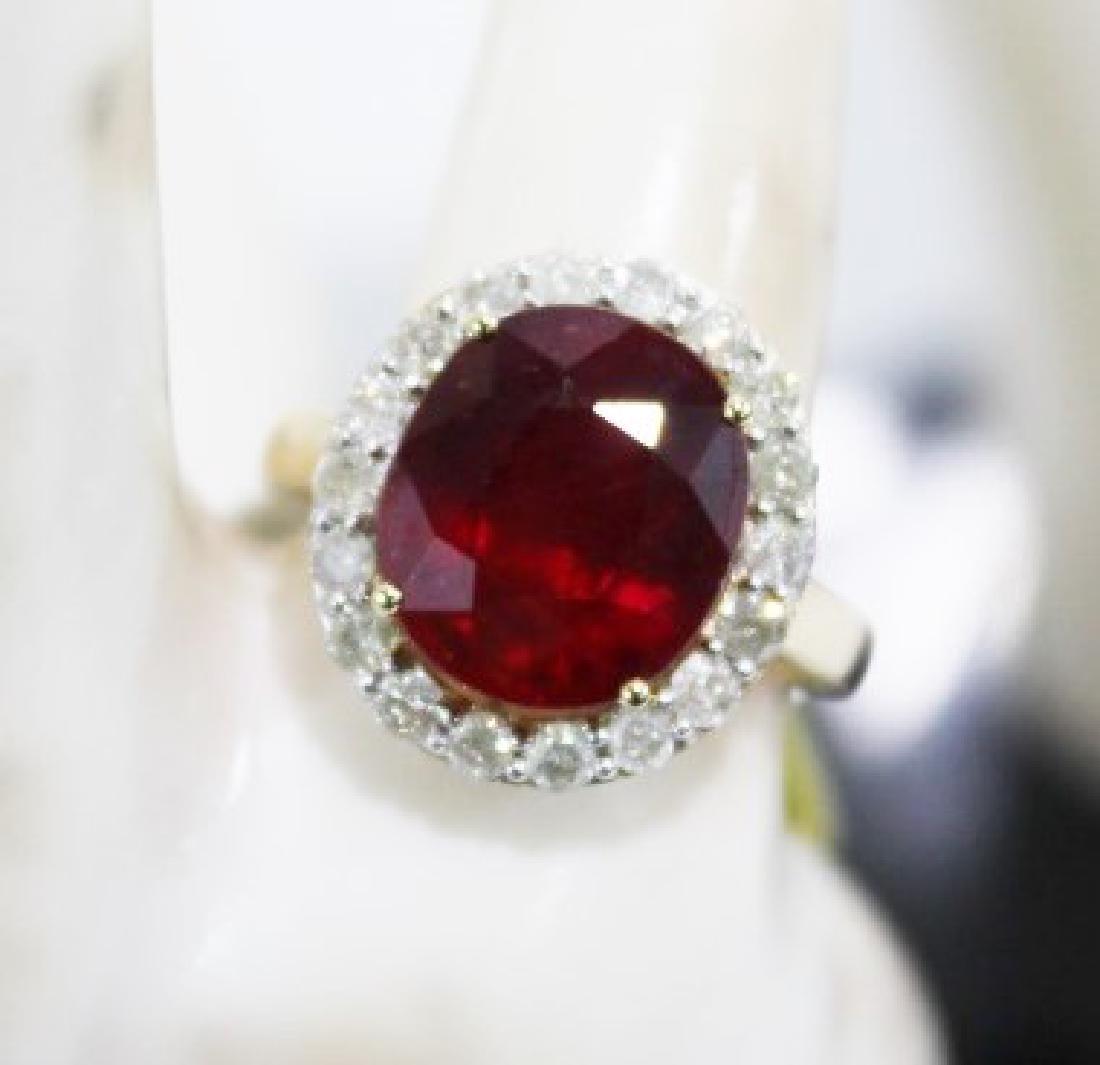 Ruby & Diamond Ring - 8.31 ct Ruby, .79 CTW Diamonds