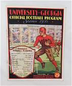 University of Georgia  Season 1930 Official Football