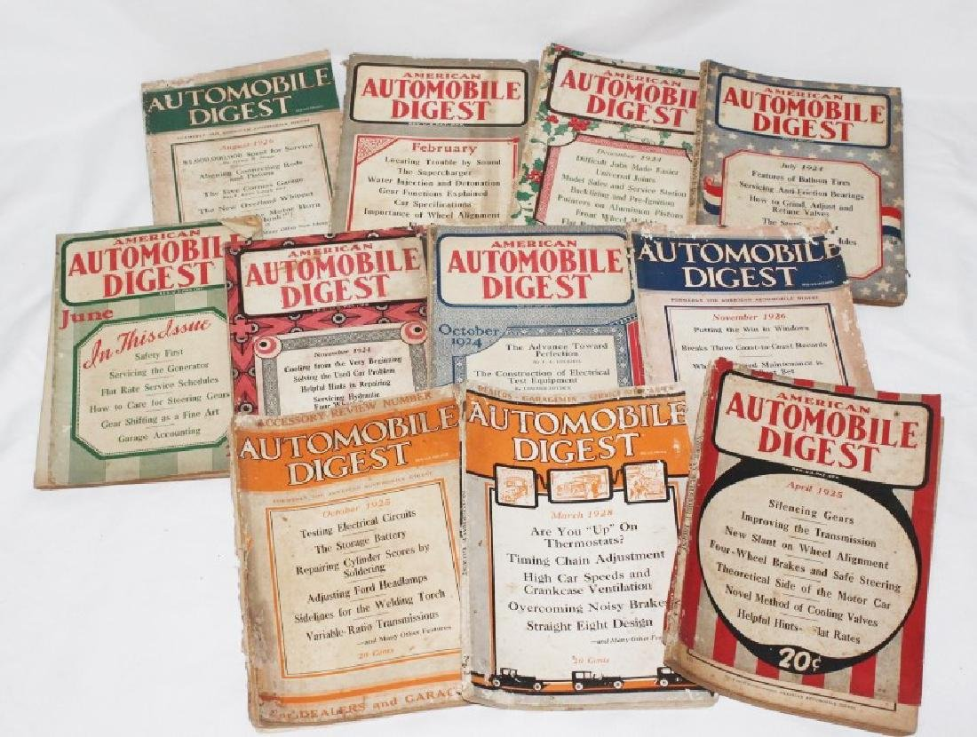 Lot of 11 1920s Automobile Digest Magazines