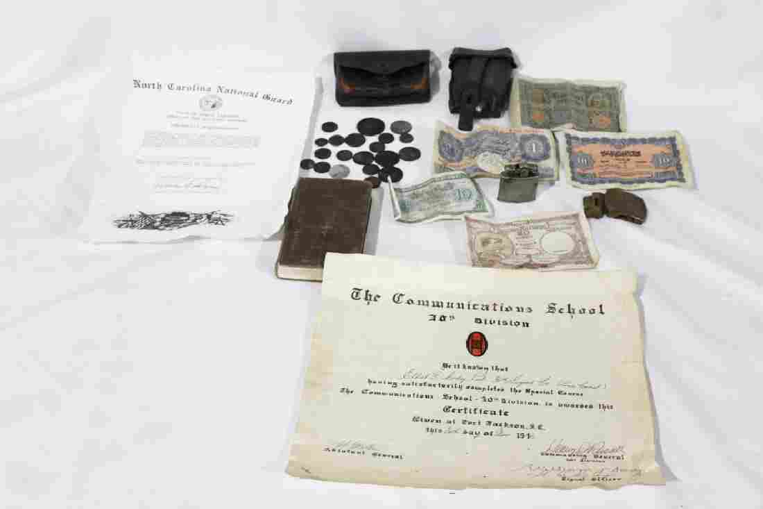 WWII Lot of Items - includes money signed by soldiers