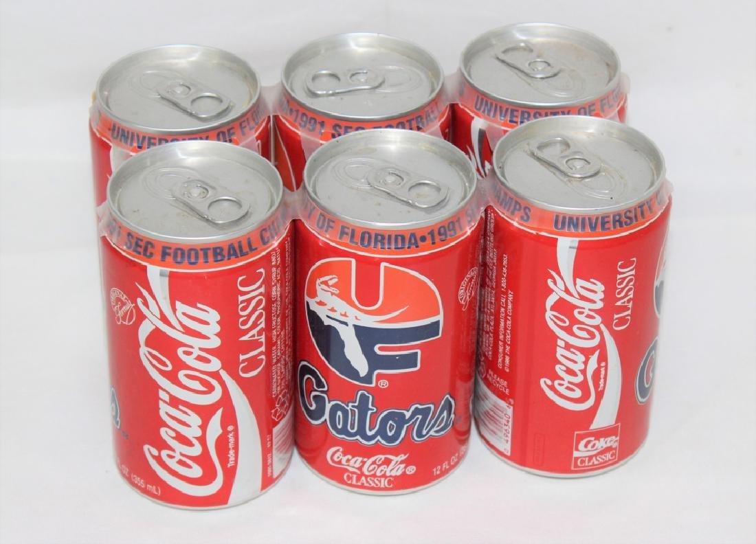 University of Florida 1991 SEC CHAMPS Coke Cans Empty