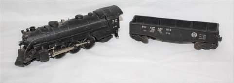 45-â€47 Penn. Gondola Flat Car & Lionel 027 Locomotive