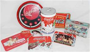 Coca-Cola Lot w/ 2004 Cookie Jar & Neon Clock