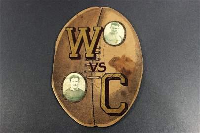 1922 - Washington vs California Football Shaped Program