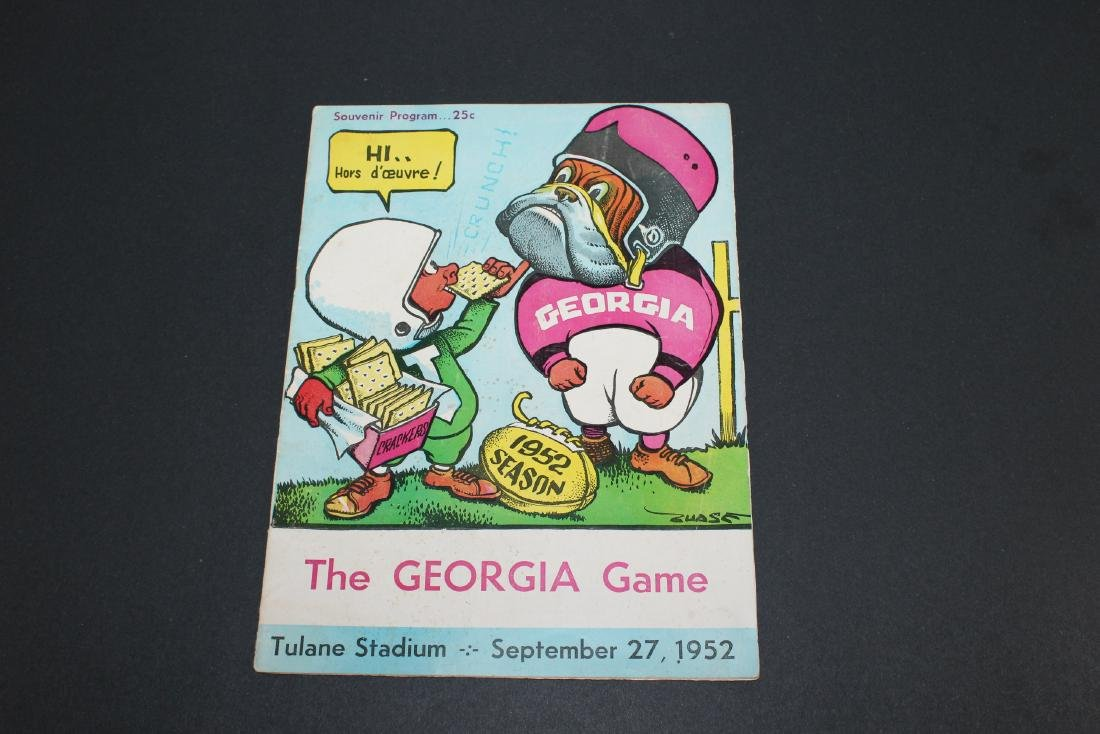 1952 - The Georgia Game - Tulane Stadium