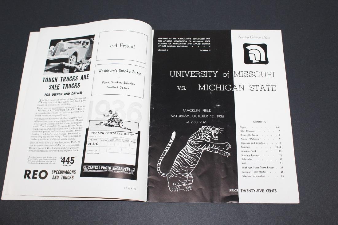 1936 - University of Missouri vs. Michigan State - 2