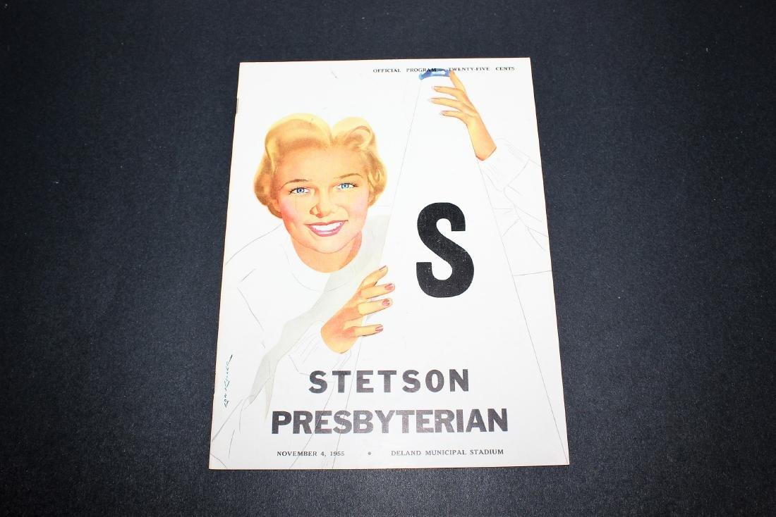 1955 - Stetson vs. Presbyterian Football Program