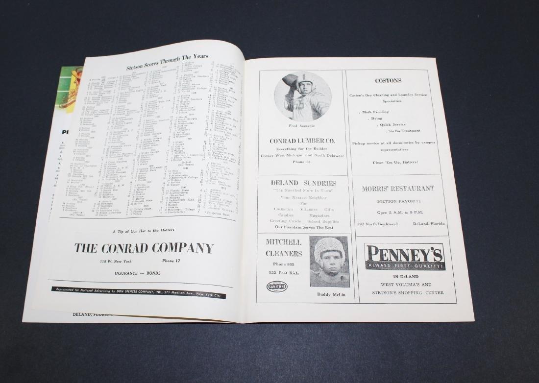 1955 - Stetson vs. Presbyterian Football Program - 2
