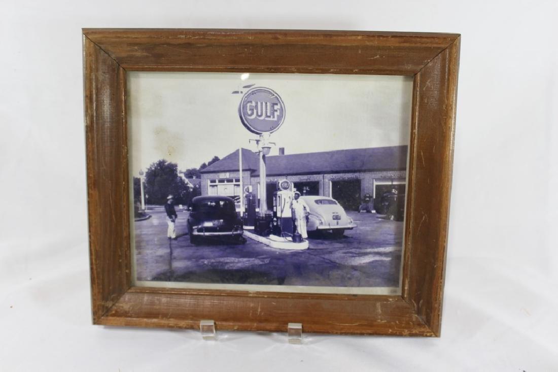Vintage Gulf Gas Station Photograph