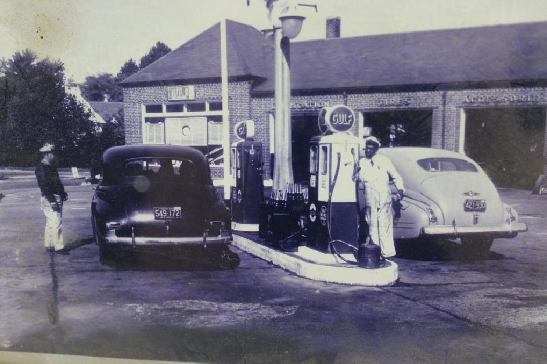 Vintage Gulf Gas Station Photograph - 2