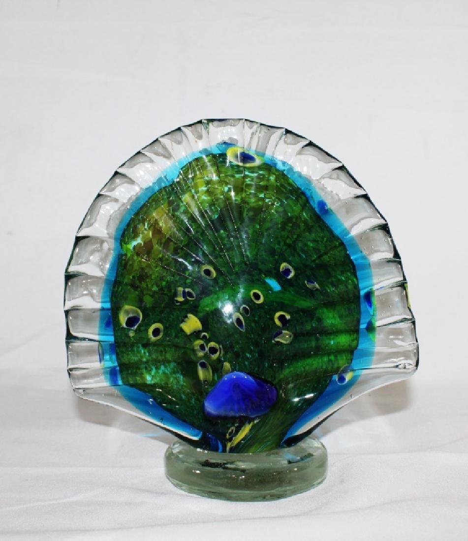 Murano Glass Blue Peacock - 2