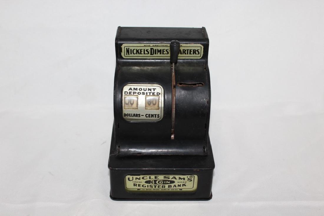 VTG Uncle Sam's Black Cash Register Bank