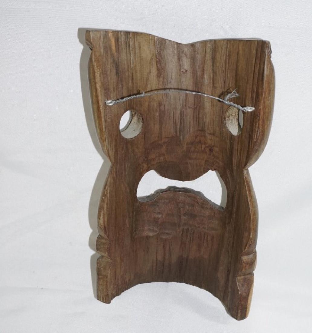 Hand Carved Woden Tiki Mask Face Mask - 2