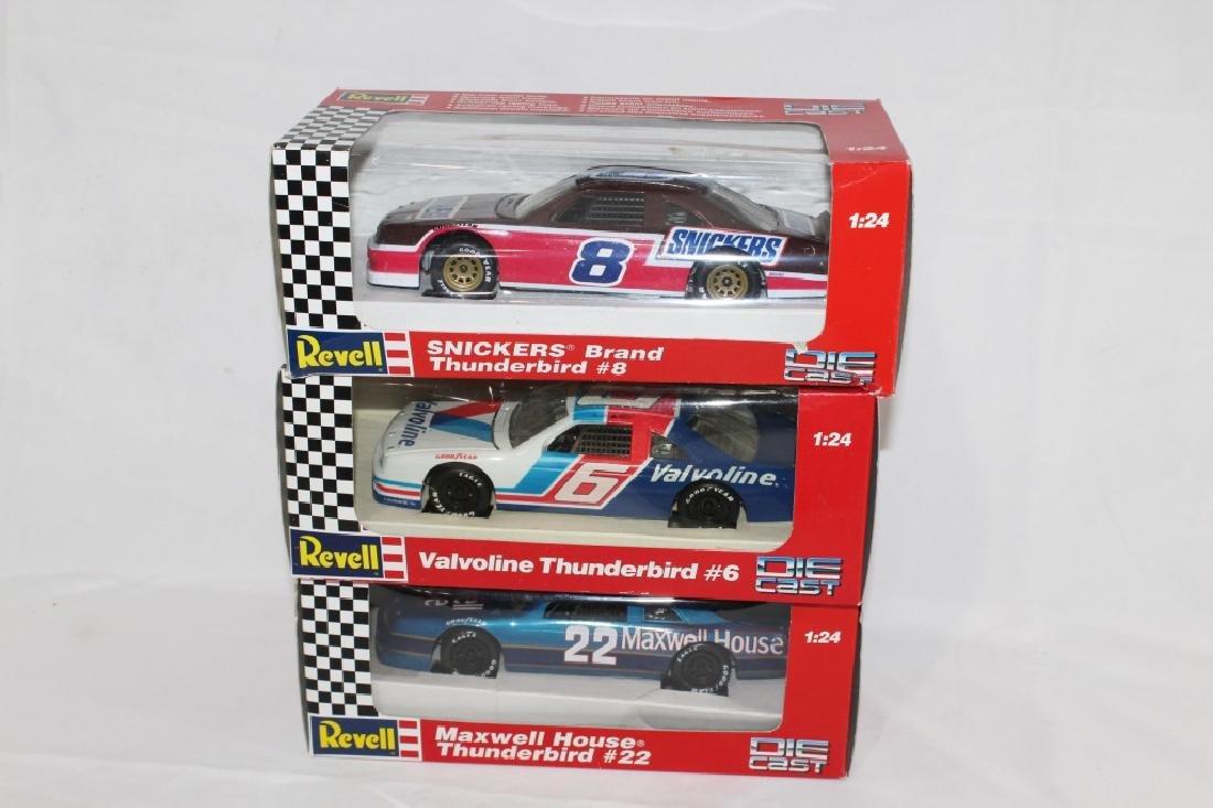 Lot of 3 - NASCAR Revell Die Cast Cars #8, #6 & #22