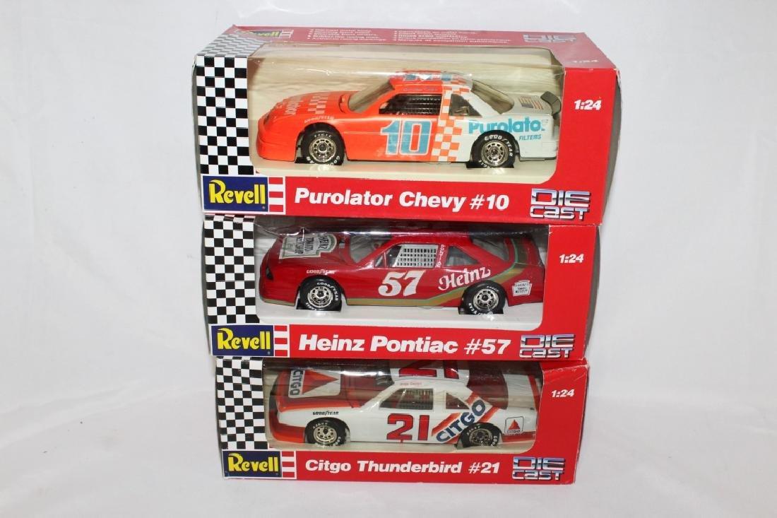 Lot of 3 - NASCAR Revell Die Cast Cars #10, #57 & #21