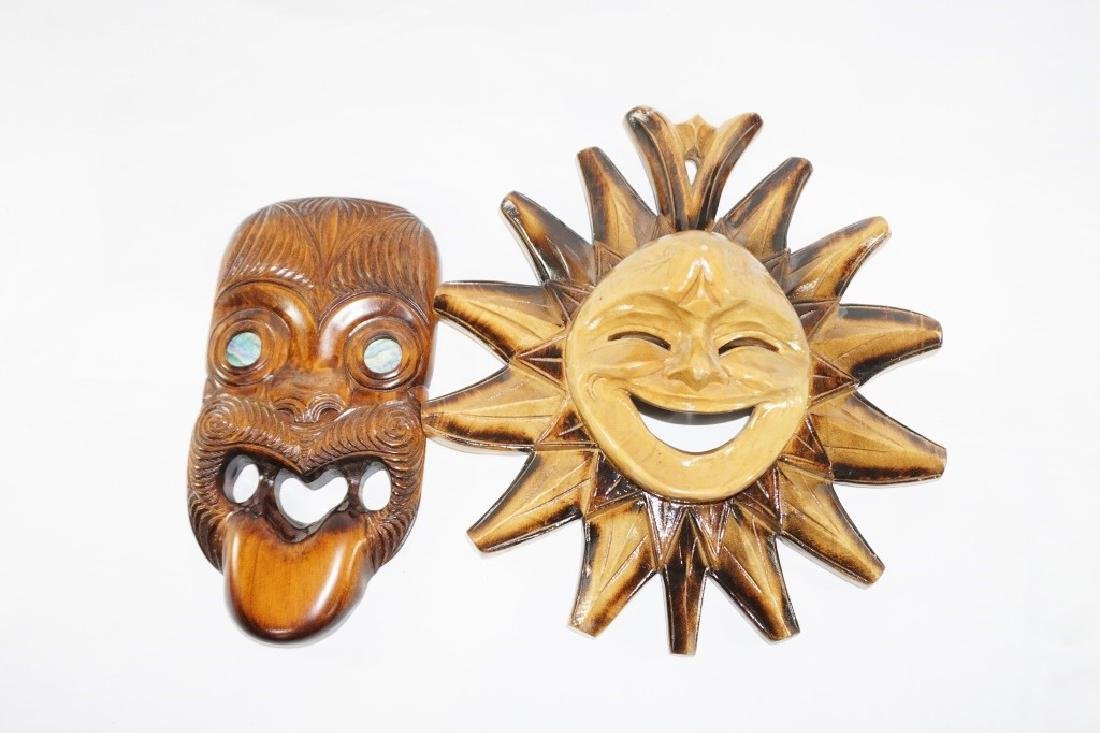 Pair of Wooden Carved Masks