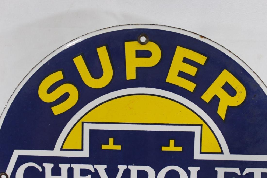 VTG Porcelain Super Chevrolet Service Sign - 2