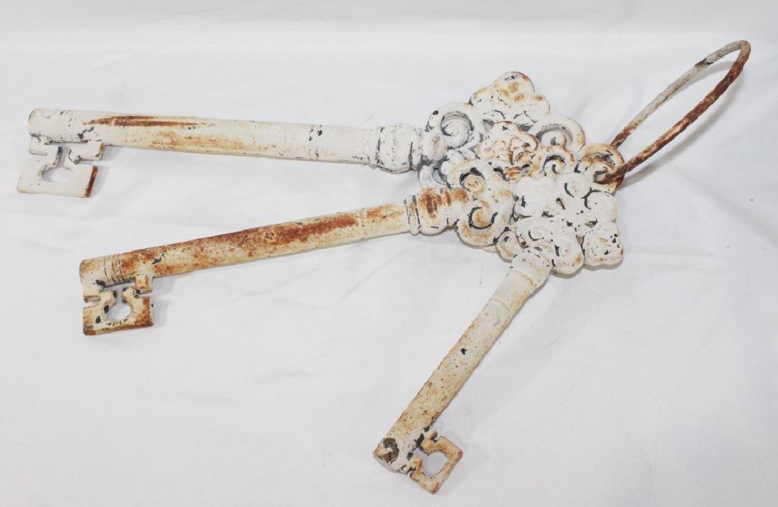 Antique Cast Metal Hanging Skeleton Keys