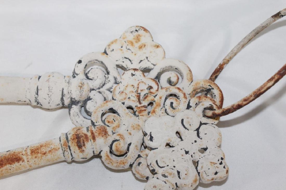 Antique Cast Metal Hanging Skeleton Keys - 2
