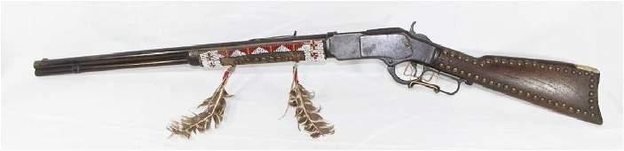 Unique Winchester Model 1873 Repeating Rifle