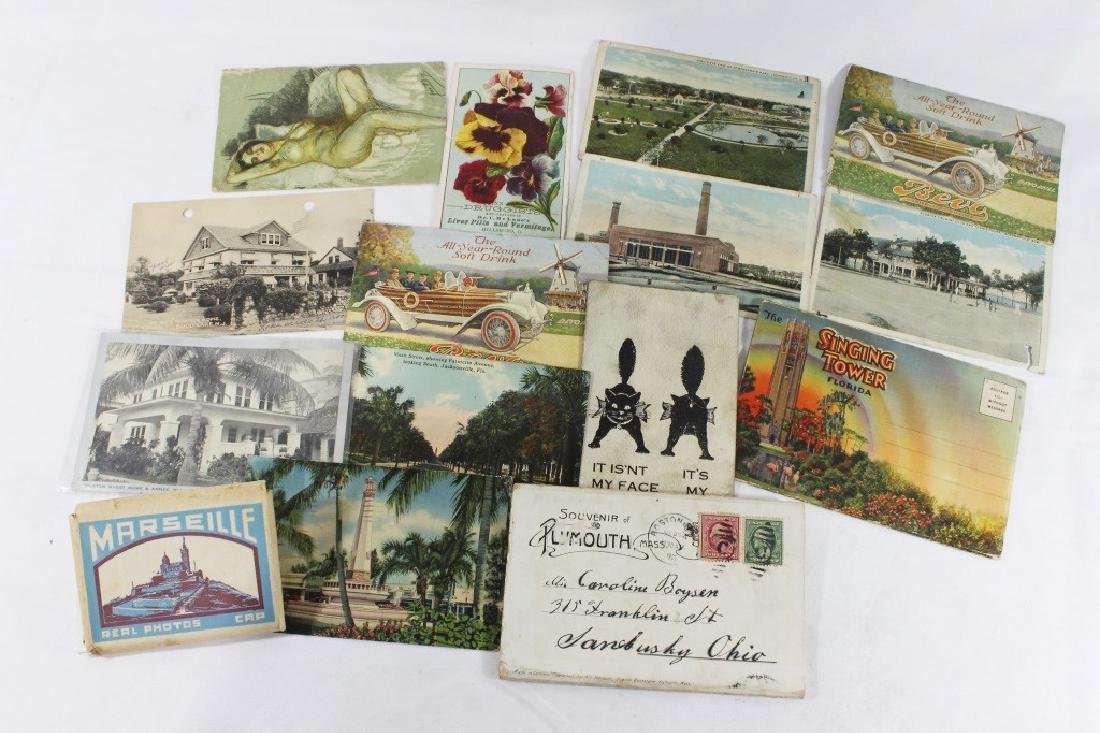 Misc Lot of Postcards -  Florida, Plymouth & Marseille