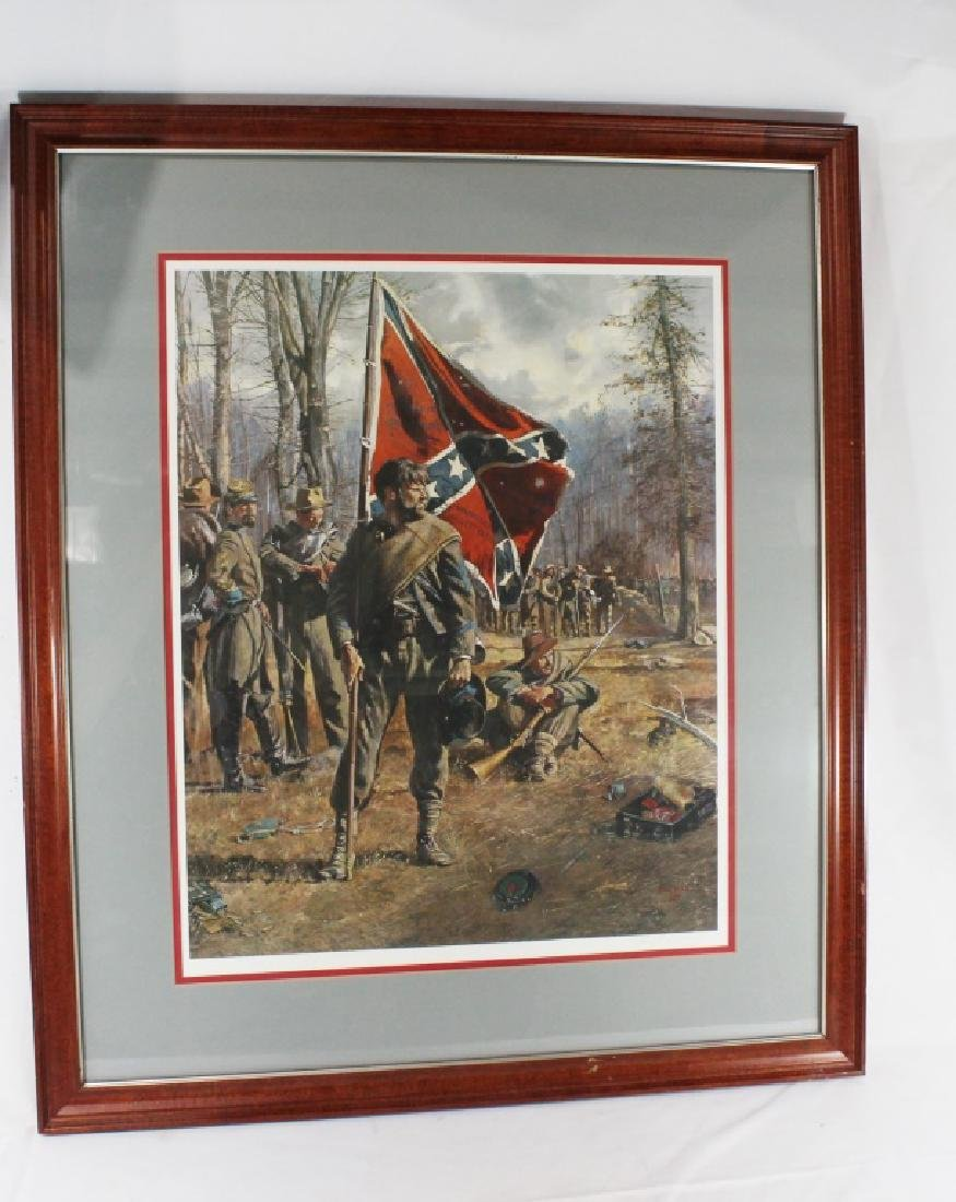 Signed Don Troiani Confederate Army Civil War Framed