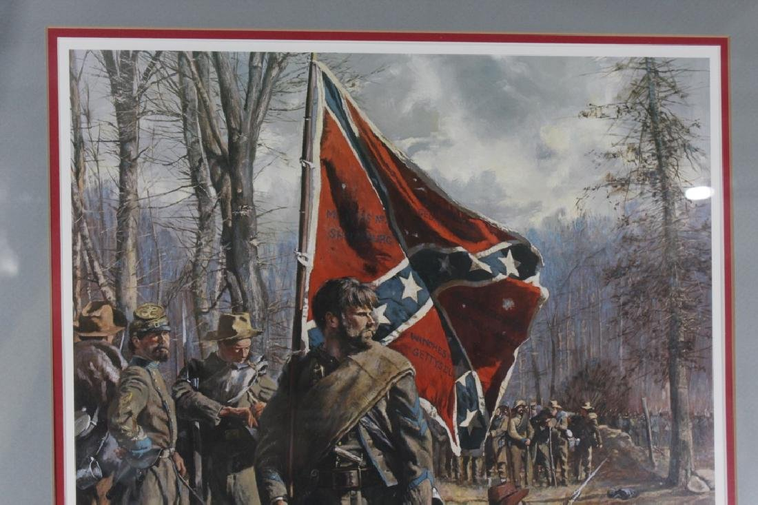 Signed Don Troiani Confederate Army Civil War Framed - 2