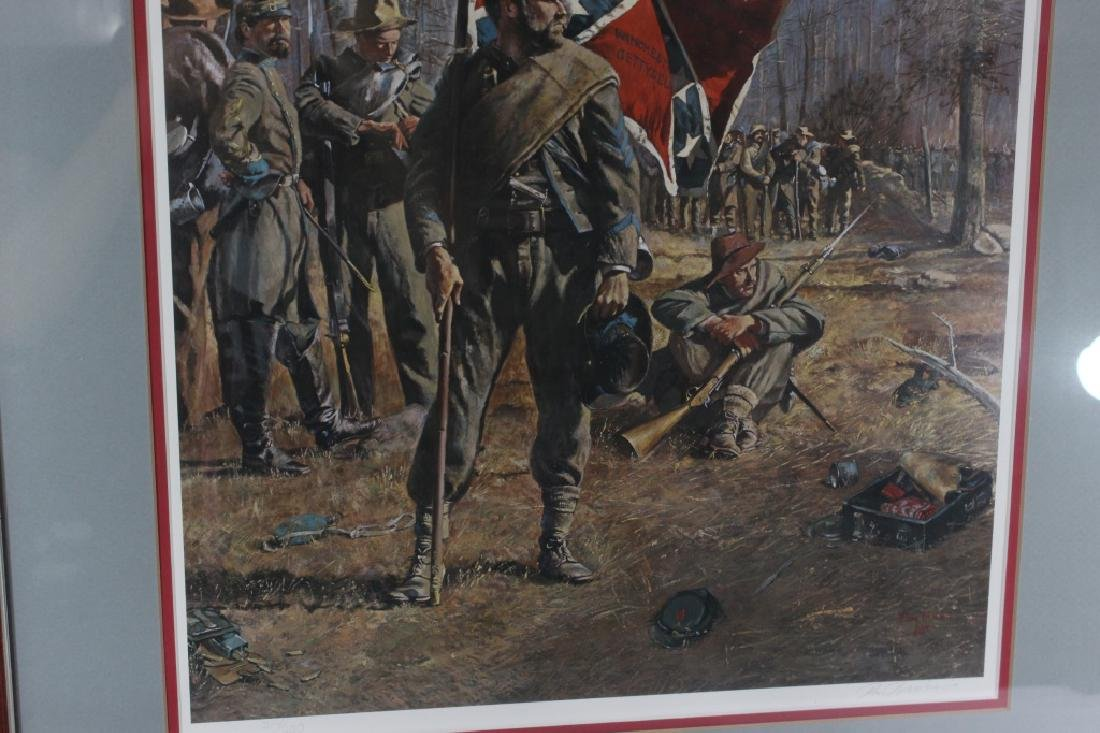 Signed Don Troiani Confederate Army Civil War Framed - 3