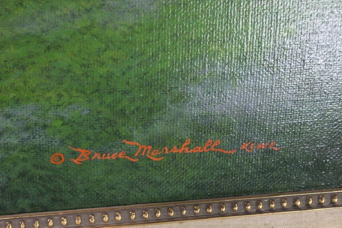Civil War Oil on Canvas Signed Bruce Marshall Kewe - 4