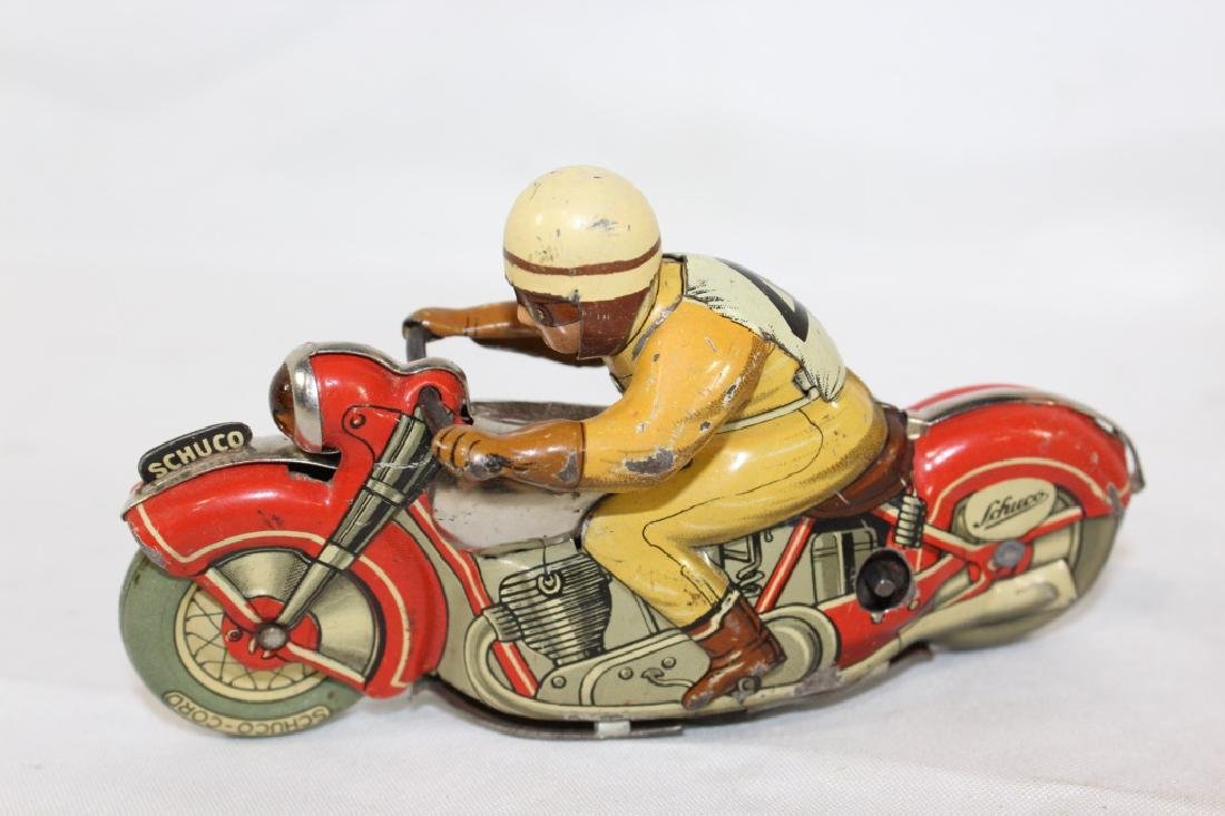 VTG Schuco Moto Drill Tin Toy and Plastic Baby - 2