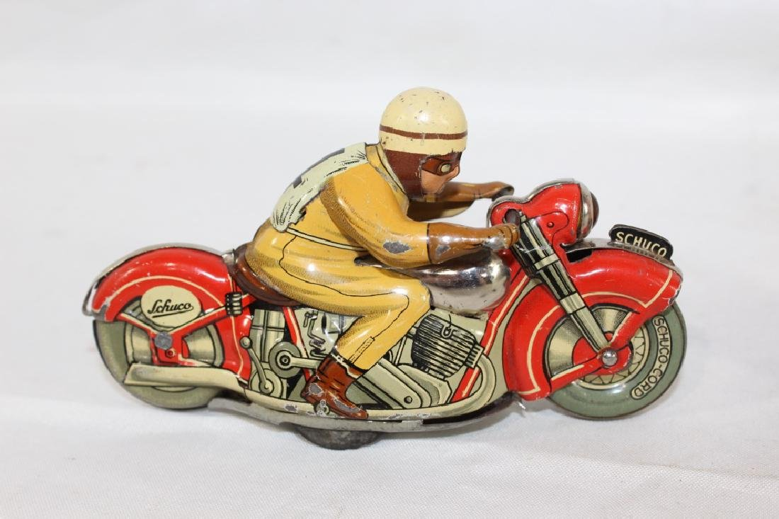 VTG Schuco Moto Drill Tin Toy and Plastic Baby - 3