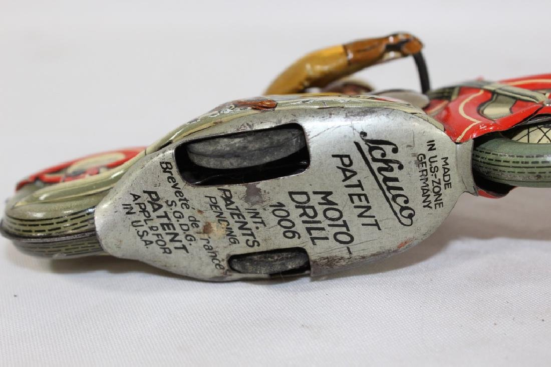 VTG Schuco Moto Drill Tin Toy and Plastic Baby - 4