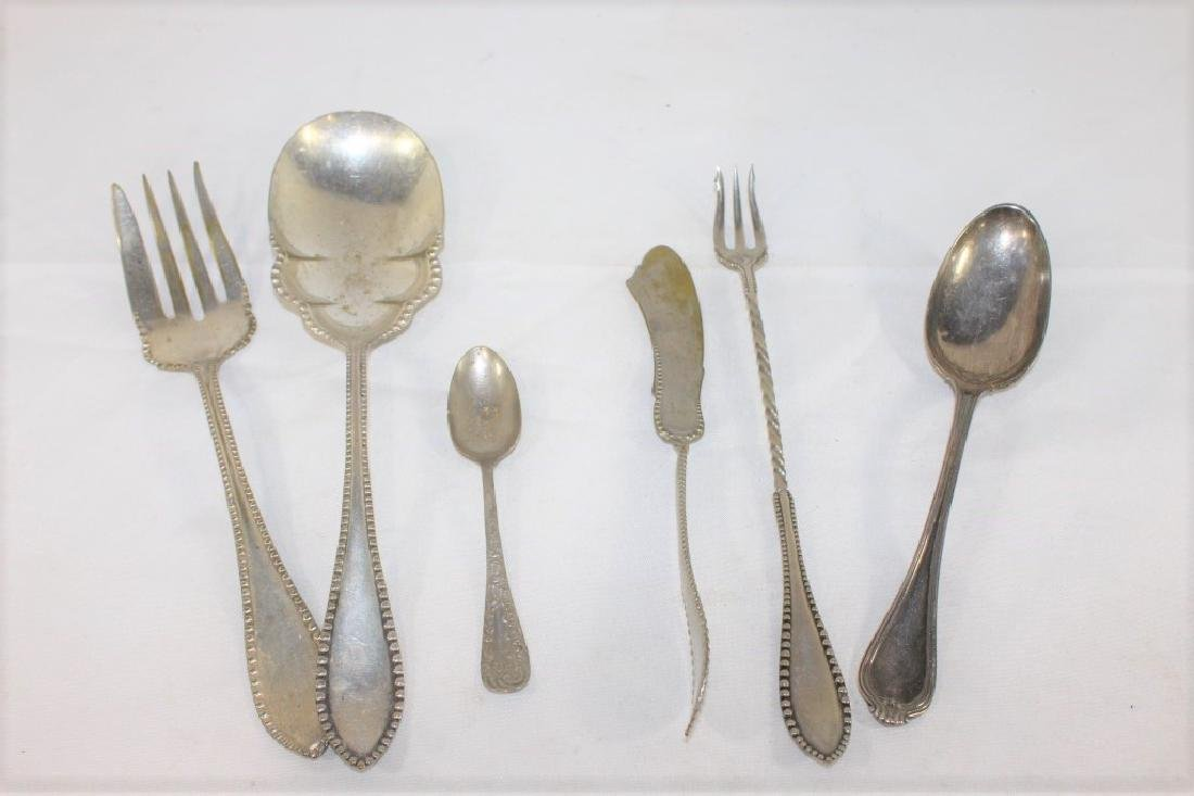 5 Coin Silver Flatware Pieces & 1 Silver Spoon