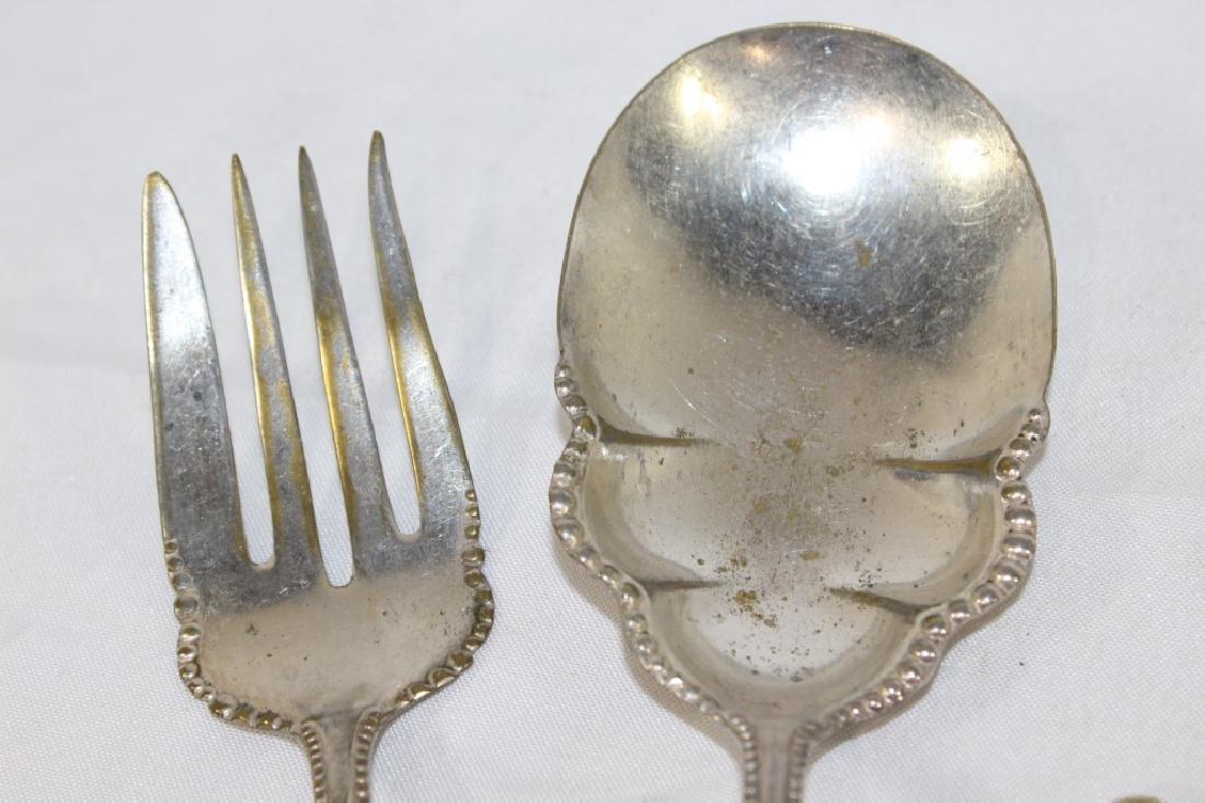 5 Coin Silver Flatware Pieces & 1 Silver Spoon - 2