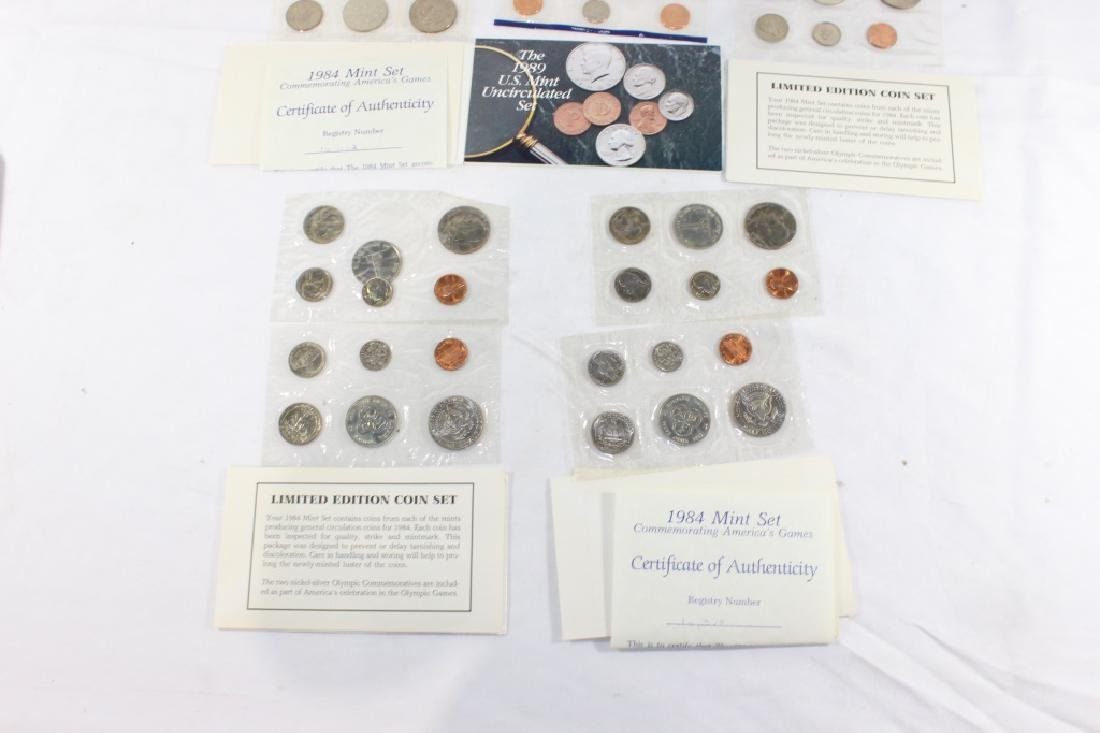 1984 Mint Coin Set (4); 1989 Mint Coin Set - 2