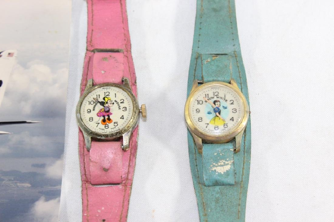 Misc Lot of Disney Watches, Disney Plane Photo, Book - 4