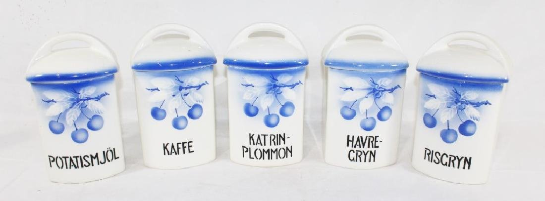 5 Ditmar Urbach Ceramic Canisters AS IS
