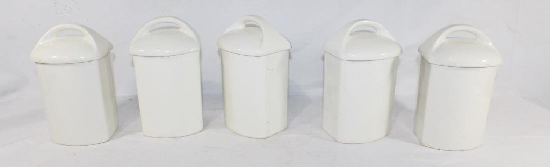 5 Ditmar Urbach Ceramic Canisters AS IS - 2