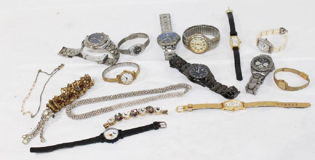 Lot of Misc. Watches & Costume Bracelets