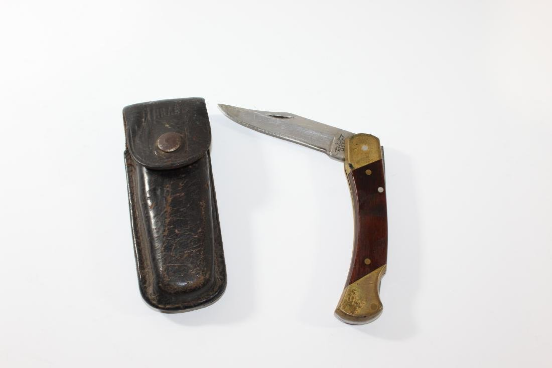 Schrade Knife and Leather belt case