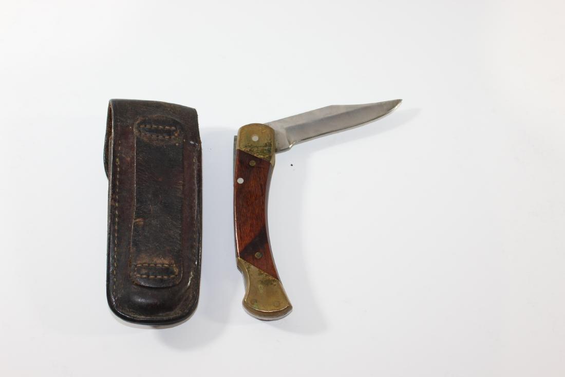 Schrade Knife and Leather belt case - 2