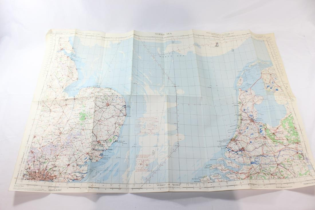 North Sea - WW2 RAF Map