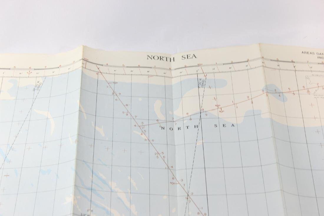 North Sea - WW2 RAF Map - 2