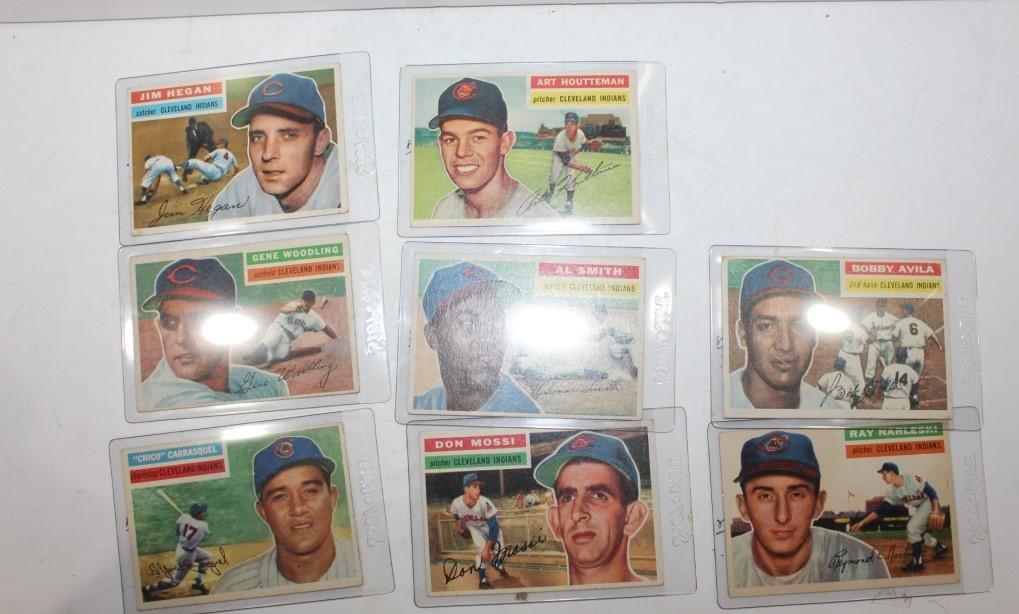 Large lot of Cleveland Indians Baseball cards-8