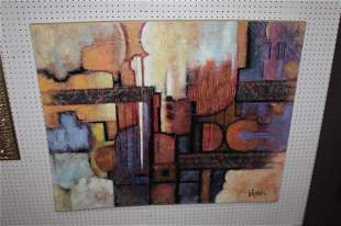 Signed Lee Reynolds Abstract Large Painting