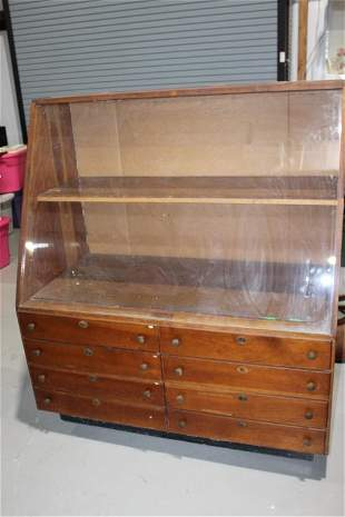 Large Store Case Knife Display Cabinet with Key